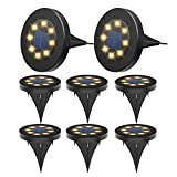 Luces Solar de Tierra Luz 8 LED, Luces Solares Jardin IP65 Impermeable...