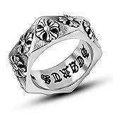 ZAKAKA リング メンズ チタン指輪 ファッション 彫りアクセサリー プレゼント (18)