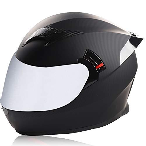 MAMAO Cascos integrales de Motocicleta Cascos Integrados abatibles Certificación Dot/ECE con visores Dobles Cascos de Motocicleta Casco de Seguridad para Carreras