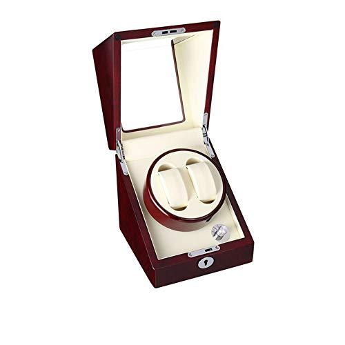 YANGSANJIN Dubbele Horloge Winder met Automatische Dual Horloge Rotator Horloges Opbergdoos Mute Japanse Motor Fit Lady & Man Elektrische Horloges AC of DC aangedreven