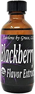 Organic Flavor Extract Blackberry | Use in Gourmet Snacks, Candy, Beverages, Baking, Ice Cream, Frosting, Syrup and More | GMO-Free, Vegan, Gluten-Free, 2 oz