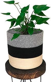 "Modern Jute Rope Woven Basket. 11"" X 11"" Large Indoor Planter Pot. Ideal for Plants Such As Fiddle Leaf Fig Tree, Snake Plant Or As A Storage Basket Organiser. Home Decor Head Turner! by Alfie&Gem"
