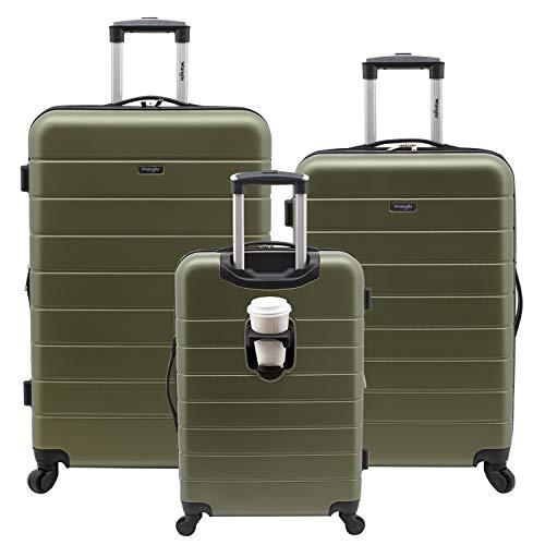 Wrangler Smart Hardside Luggage With USB Charging Port