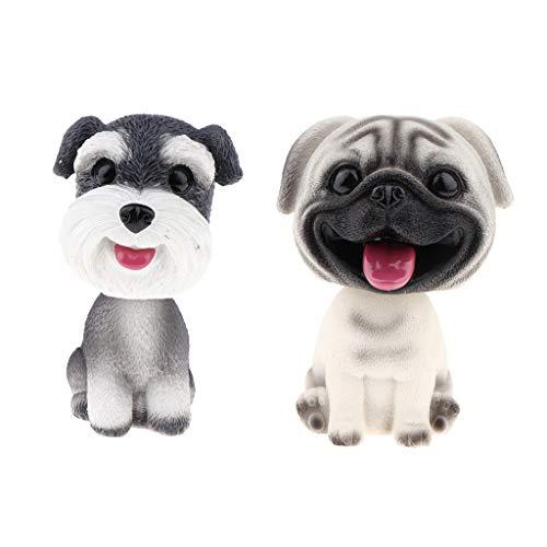 HomeDecTime 2pcs Chien Voiture Figurine Animale Jouet Bureau Fournitures Maison
