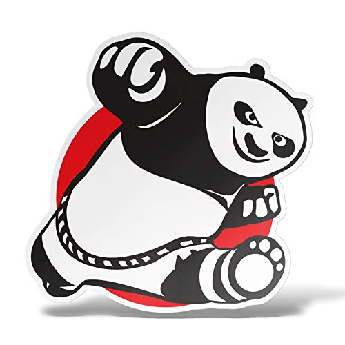 erreinge Sticker Panda Karate Adesivo Sagomato in PVC per Decalcomania Parete Murale Auto Moto Casco Camper Laptop - cm 35