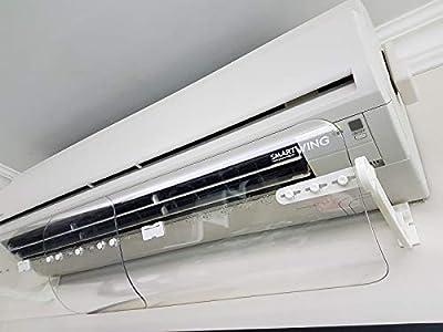 SmartWing Deflector Aire Acondicionado Anti-soplado Directo Estirable y Ajustable, Claro, 60-110 cm