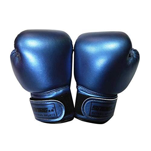 GJNBF 1 Paar Boxhandschuhe professionelle Kinderatmungsaktive PU-Leder-Handschuhe Netz Flamme MMA Sanda Boxen Trainingsgeräte for Kinder (Color : Blue)