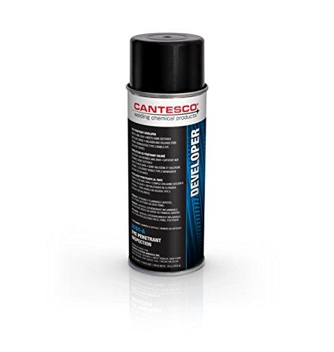 CANTESCO D101-A Dye Penetrant Standard Developer, Non-Aqueous Wet, 12 oz Aerosol Can,White