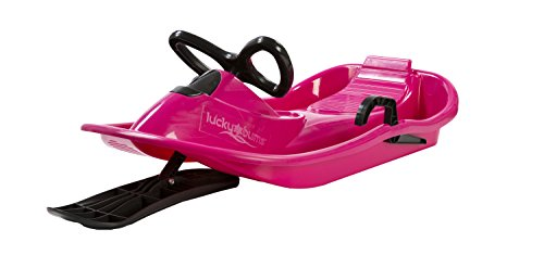 Lucky Bums Plastic Racer Sled, 40-Inch, Pink/Black