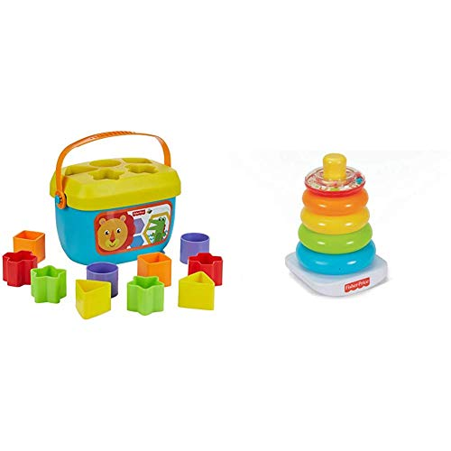 Fisher-Price Farbring Pyramide und Babys Erste Bausteine Formensortierspiel