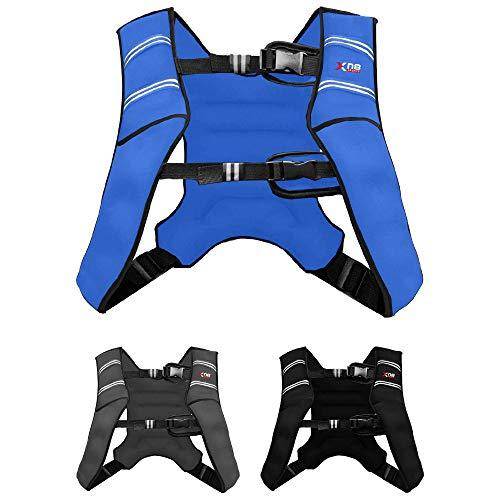 XN8 Adjustable Weighted Vest 8kg & 10kg-Neoprene Weight Jacket for Running-Training-Workout-Jogging-Walking-Gym-Strength-Training