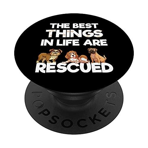 Las mejores cosas de la vida son rescatado amante de los PopSockets PopGrip: Agarre intercambiable para Teléfonos y Tabletas