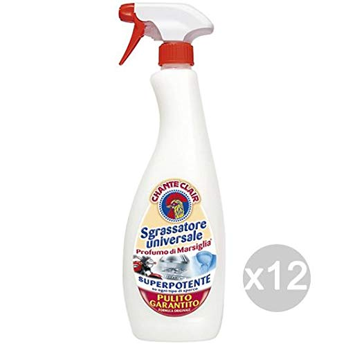 Chante Clair - Juego de 12 desengrasantes 625 en spray Marsella para limpiar y limpiar la casa