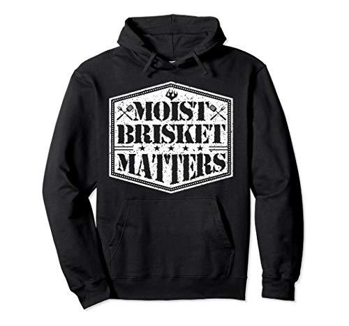 BBQ SMOKER RIBS MOIST BRISKET MATTERS Grillmaster Gift Pullover Hoodie