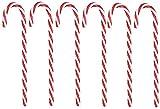 JYHZ Decoraciones navideñas, Adornos de bastón de plástico de Navidad, Árbol de Navidad Cuelga de Decoraciones de caña de plástico, árboles de Navidad Colgantes 6 Piezas