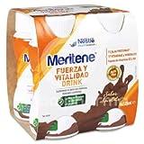 Meritene® FUERZA Y VITALIDAD - Suplementa tu nutrición y refuerza tu sistema inmune con vitaminas, minerales y proteínas - Bebida de Chocolate - Botella 4 x 125ml