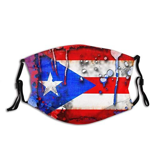 Puerto Rico Coqui - Mascarilla facial con 2 filtros para pasamontañas antipolvo para adultos