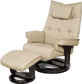Relaxzen 8-Motor Massage Recliner with Lumbar Heat and Ottoman, Cream