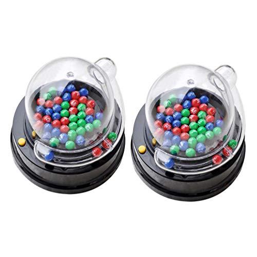 NUOBESTY 2 Juegos de Pelota de Bingo Máquina de Juguete de La Loteria Eléctrica Máquina de Sacudidas Lotto Juego de Fiesta Lotto Máquina de Juegos