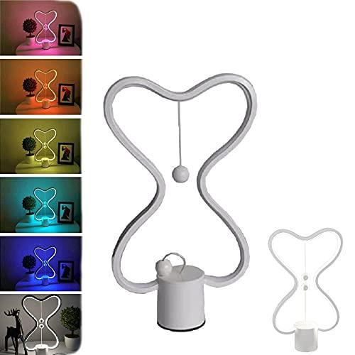 Luz de equilibrio de suspensión magnética inteligente, interruptor de polo magnético, carga USB, lámpara de atmósfera de colores coloridos para sala de estar, dormitorio, escritorio de oficina
