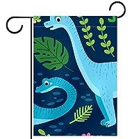 ガーデンフラッグ庭の旗、庭の装飾家の旗屋外装飾バナー恐竜 垂直28x40インチ