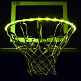 GlowCity LED Basketball Hoop Lights – Glow-in-The-Dark Rim Lights Full Size – Super-Bright to Play Longer Outdoors, Ideal for Kids, Adults, Parties and Training (Yellow)