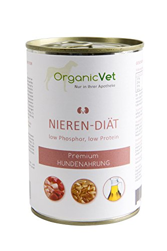 ORGANICVET Orga nicvet Cane Bagnato mangime veteri Nary Reni di Dieta, Confezione da (6X 400G)
