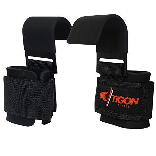 Cinghie per sollevamento pesi, allenamento, palestra-Supporto per polso con gancio per sollevamento Guanti