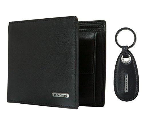 bruno banani Herren Geldbörse Portemonnaie Geldbeutel mit Schlüsselanhänger 2084