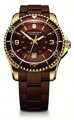 Victorinox Swiss Army Men's 241608 Maverick GS Brown Stainless Steel/Rubber Watch
