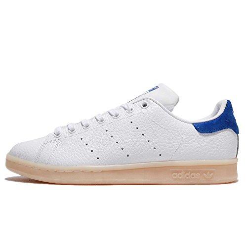 adidas Unisex-Erwachsene Stan Smith Sneaker, Weiß (FTWR White/FTWR White/Bold Blue), 46 2/3 EU