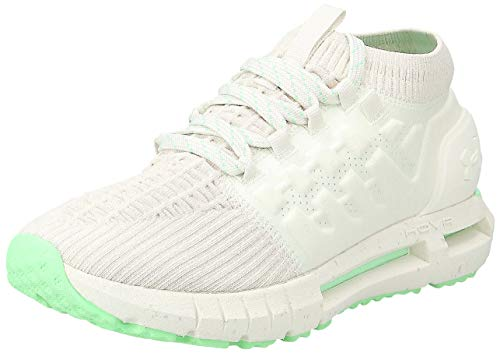Under Armour Women's HOVR Phantom Running Shoe, Ivory (112)/Green Typhoon, 7