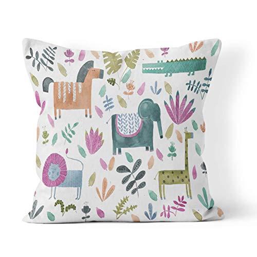 N/Q Funda de almohada, diseño floral, flamenco, vintage, decoración de cojín