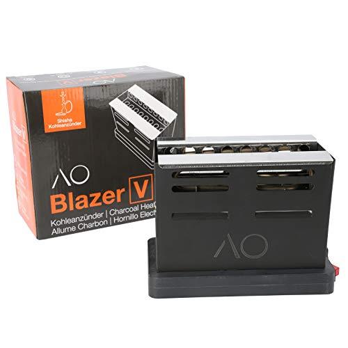 AO® Blazer Shisha V-Kohleanzünder 800 Watt I Elektrischer Kohleanzünder heizt Kohle von 3 Seiten auf I Shisha Kohlegrill inkl. Kohlegitter & extra langem Kabel 150 cm I Kohleanzünder für Shisha