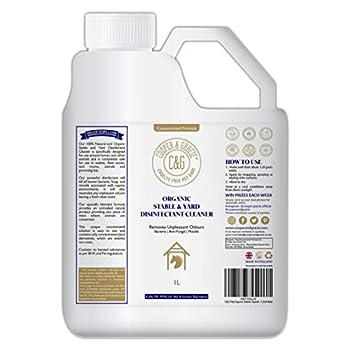 C&G Pets | Nettoyant organique et stable 1 litre | Sans danger pour les plantes autour de l'équine | Élimine les odeurs désagréables | Action instantanée contre les bactéries