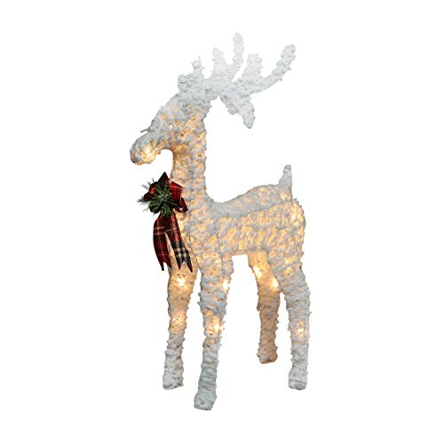 Just For Christmas Glitter Reindeer – 58cm Light Up with 23 Bright LEDs, Make Your Christmas and Holiday more Decoration Bright With Glitter Reindeer |Includes Warm White LED Lights | Battery Operated