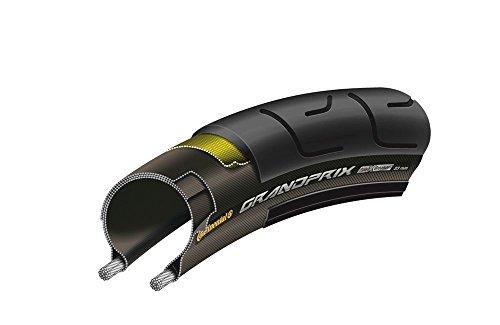 Continental Fahrrad Reifen Grand Prix//Alle Größen, Ausführung:Schwarz, Drahtreifen, Dimension:23-622 (28´´) 700×23C
