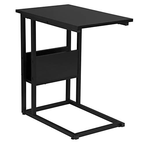 WOLTU Beistelltisch Kaffeetisch Couchtisch Sofatisch Nachttisch Betttisch Laptoptisch, Gestell aus Metall, Tischpltte aus Spanplatte, 55x36x59,5cm(BxTxH), Schwarz TS79sz