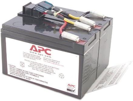 APC RBC48 Replacement Battery Cartridge #48 - UPS battery - 1 x lead acid - for P/N: DLA750, DLA750I, SMT750, SMT750I, SMT750TW, SMT750US, SUA750, SUA