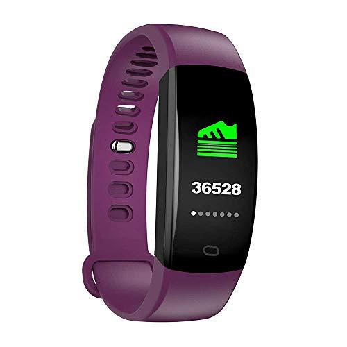 JIAJBG Pulsera Inteligente F64 Moda, Impermeable Ip67 Actividad Ver Tracker con Monitor de Ritmo Cardíaco, Hombres Mujeres Deportes Reloj Elegante, para Android Ios regalo de vacaci