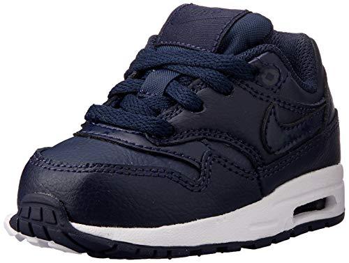 Nike Air MAX 1 (TD), Zapatillas de Estar por casa Bebé Unisex, Multicolor (Obsidian/Obsidian/White 402), 22 EU