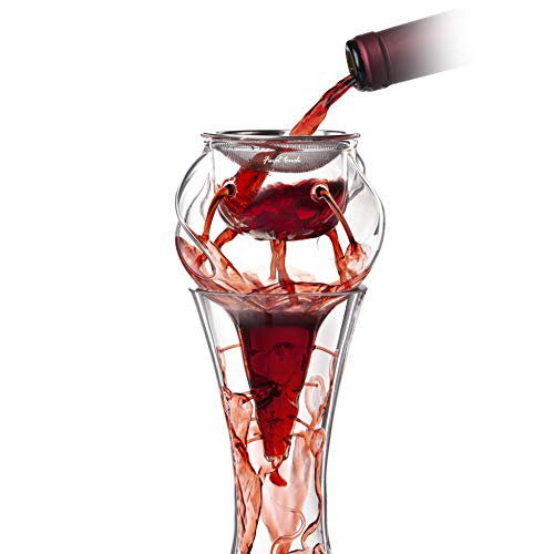 Final Touch Conundrum Glass Aerator for Wine Decanters (WDA590)