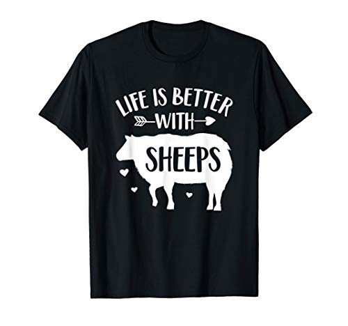 Sheep Lover Gift 'Life Is Better With Sheeps' Funny Sheep T-Shirt