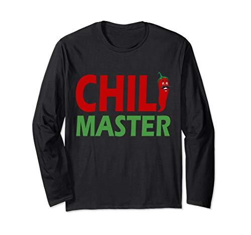Chili Master I Pepperoni Hot Scoville Würze Jalapeno Chili Langarmshirt