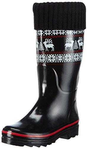 BECK Rentier, Damen  Gummistiefel, Mehrfarbig (schwarz / 02), 36 EU