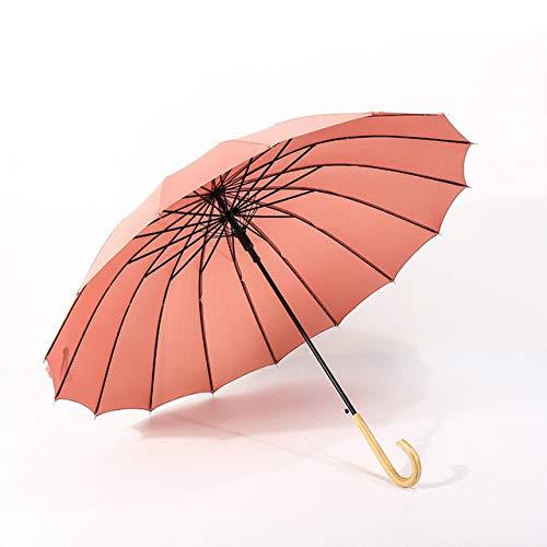 profesional ranking Paraguas de madera de color TEVERL Rainwoman 16K Paraguas a prueba de viento de mango largo … elección