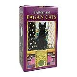 Tarjetas de Tarot Tarjetas Mini Tarot de Gatos Pagan Todos los Tarjetas de Tarot Inglés Tarjetas de Juego Familia Recogiendo Juego de Mesa Juego
