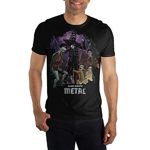 Bioworld Camiseta masculina de metal Batman The Dark Knight, Preto, S