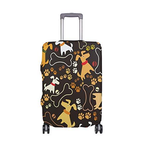 ALINLO - Funda para Equipaje con diseño de Huellas de Perro de Dibujos Animados para Maleta de Viaje de 18-32 Pulgadas, Multicolor (Multicolor) - wllkn365399bz
