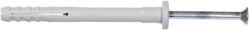 fischer Cheville /à frapper N 6 x 60//30 F avec collerette /épaisse et clou t/ête frais/ée//Bo/îte de 100